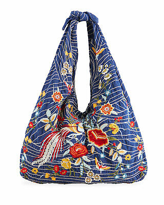 $ CDN188.81 • Buy JOHNNY WAS Katya Embroidered Knot Tie Tote Bag NEW