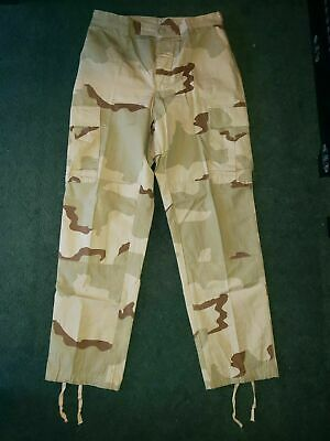 $25 • Buy US Military 3 Color Desert Camouflage Trousers Pants Medium Long Army Militia