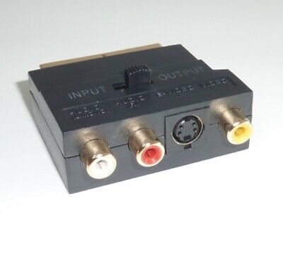 £2.70 • Buy SCART To S-Video & RCA I/O Switchable Adapter Gold Plated