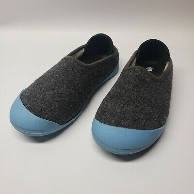 $24 • Buy Mahabis Classic Wool Slippers Gray Removable Teal Sole Women's Size 37 6.5-7 US