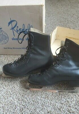 $39 • Buy Vintage RIEDELL Red Wing MN Black Ice Skates Men's Size 9