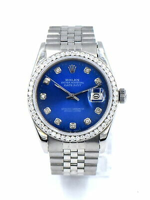 $5850 • Buy ROLEX OYSTER PERPETUAL DATEJUST 16014 DIAMOND DIAL BEZEL WATCH STAINLESS C1985