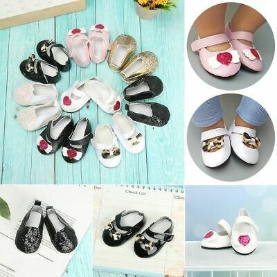 £3.45 • Buy Bow Leopard Leather Shoes Doll Shoes 18 Inches Doll Sequin Casual Shoes