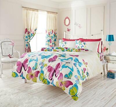 £17.99 • Buy KING SIZE Duvet Set Butterfly Quilt Cover Bedding Colourful Butterflies