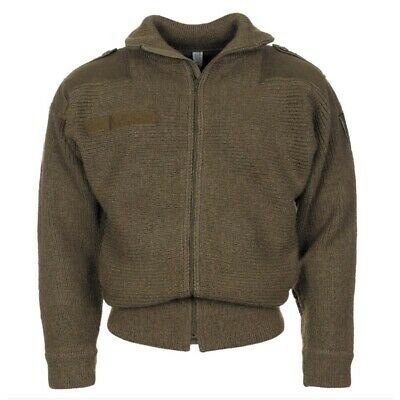 $199.90 • Buy Austrian Army Heavyweight 100% Boiled Wool Sweater WITH Zip Commando SIZE 5
