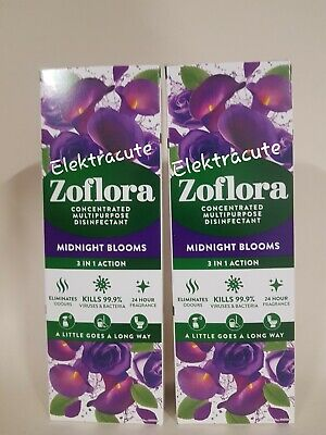 £9.89 • Buy 2x Zoflora Midnight Blooms 250ml 3 In 1 Disinfectant All Purpose Kills Bacteria