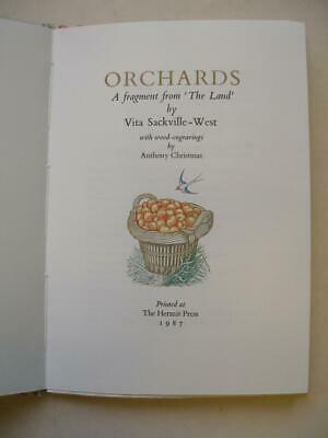 £50 • Buy ORCHARDS  FROM  The Land  By Vita Sackville-West Anthony Christmas 1987 22A