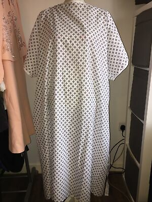 £5 • Buy Unisex Nhs Wrap Over White Hospital Patient Gown, Reusable Dignified Night Dress
