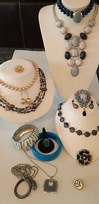 $ CDN39.95 • Buy 🌬Vintage Jewelry Lot Faux Pearls?~Blues Stones Necklaces,Cameo,Rhinestones,More