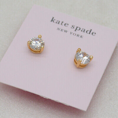 $ CDN11.32 • Buy Kate Spade Jewelry CZ Cut Crystals Claw Stud Earrings 18k Gold Plated For Women