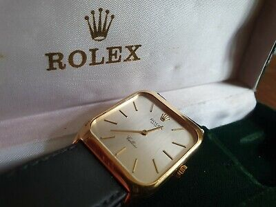 $ CDN6578.21 • Buy ROLEX CELLINI 4135 18ct GOLD Vintage 80s + Box, Papers