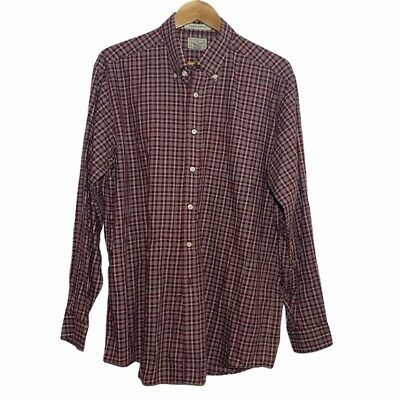 $27.99 • Buy L.L.Bean Mens Red Wrinkle Resistant Plaid Flannel Long Sleeves Button Up Shirt L