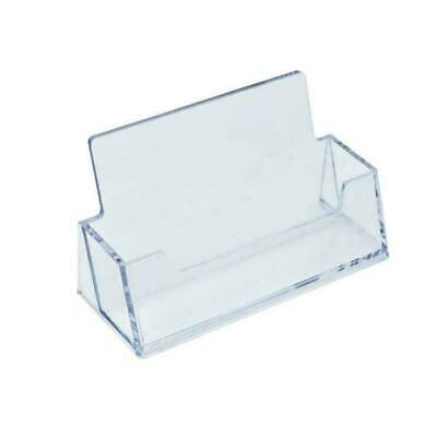 £0.01 • Buy Clear Business Card Case Holder Business Card Display Stand L6C0 H6N2