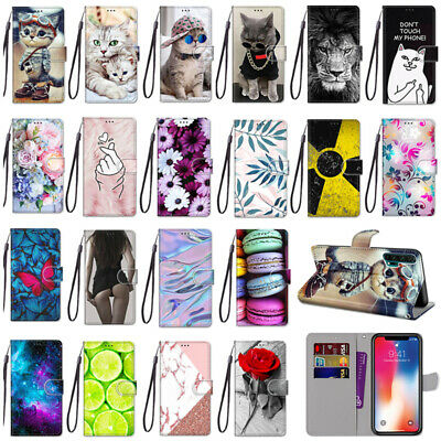 AU5.99 • Buy For IPhone 8 Case Cover Cute Cartoons Painted Magnetic Leather Flip Stand Wallet