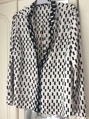 £4.90 • Buy Autograph  Marks And Spencer  Blouse Size 12 New Ecru/ Black