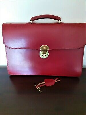 $691.79 • Buy Authentic GlenRoyal Ox Blood Leather Briefcase Bespoke Laptop Document Bag