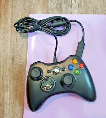 AU10.80 • Buy Xbox 360---Black Wired USB Game Controller By Microsoft ** NEW IN BOX
