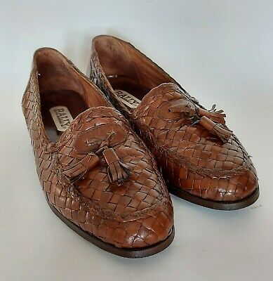 £25 • Buy Mens BALLY Woven Brown Leather Loafer Slip On Shoes With Tassels EU 41.5 UK 7.5