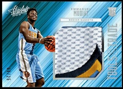 AU30 • Buy 2015-16 Panini Absolute Emmanuel Mudiay Tools Of The Trade Rookie Patch #9/25