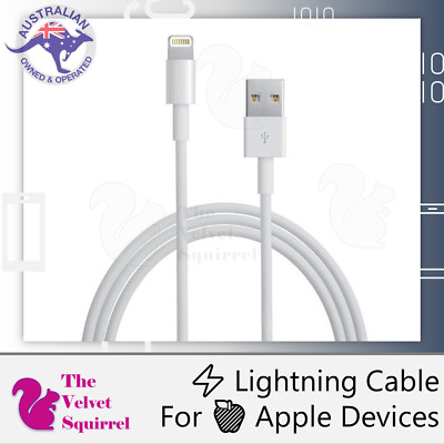 AU5.39 • Buy 🔥📱 Lightning Data Cable 1m ⚡ MFi Certified Charger 🍎 IPhone X 12 IPod IPad 🔋
