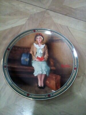$ CDN8.66 • Buy Edwin M Knowles Plate  A Young Girl's Dream By Norman Rockwell