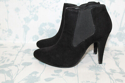 £9.99 • Buy London Rebel, Ladies Size 3, Black 'Suede-Style' Ankle Boots, Very Good Cond
