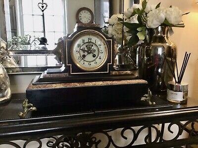 £12 • Buy Antique  19th Century Slate Marble Mantle Clock.