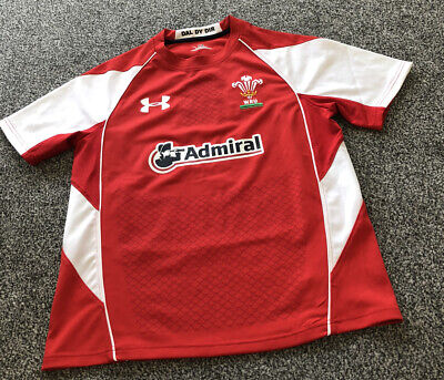 £20 • Buy Under Armour Wales Rugby Union Red Home Shirt Top - Adults Men's Size Small S