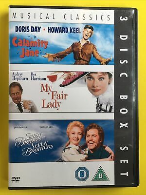 £4.79 • Buy Calamity Jane/Seven Brides For Seven Brothers/My Fair Lady DVD (2007) Audrey