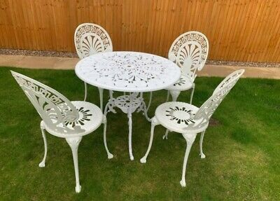 £269.99 • Buy Vintage Patio Bistro Set Garden Table 4 Chairs Collectiion Cash Only DN21 3
