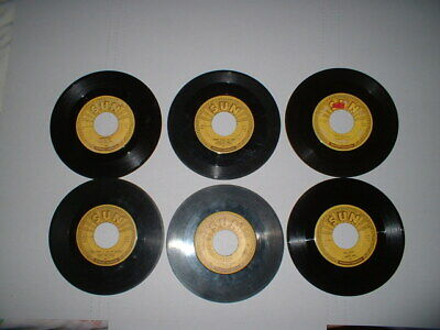 £7.26 • Buy 6-Rockabilly-country- 45s On SUN Records-Johnny Cash & -Jerry Lee Lewis
