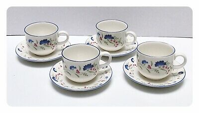 £11.99 • Buy Royal Doulton Windermere Tea Cups And Saucers X 4