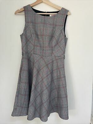 £0.99 • Buy Ladies Louche Pinafore Skater Dress Work Check Size 10