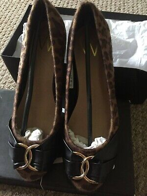 £7 • Buy Wallis Brand New Leopard Skin Cameo And Black Brand New Cube Heel Ladies Shoes