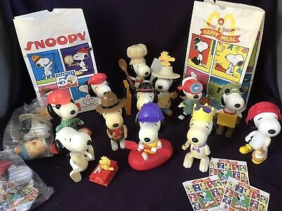 £15 • Buy Complete Set Of 12 +2 Sealed Happy Meal McDonalds Toys SNOOPY (large) From 2000