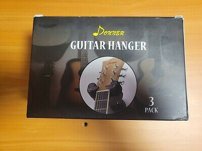 $ CDN17.12 • Buy Donner Guitar Wall Mount 3-Pack Auto Lock Wall Hanger Bass Stand Holder UNUSED