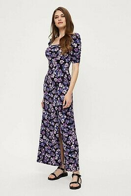 £15 • Buy Dorothy Perkins Tall Purple Floral Square Neck Maxi Dress 14