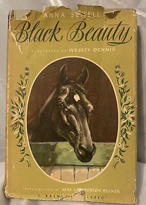 £2.16 • Buy Vintage-1946 Black Beauty-Anna Sewell Hardcover Book Illustrated Rainbow Classic
