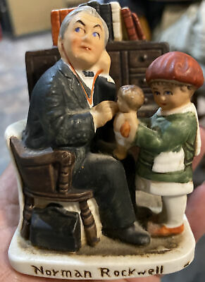 $ CDN8.70 • Buy 1979 Norman Rockwell Doctor And The Doll Ceramic Figurine NR-212 - Dave Grossman
