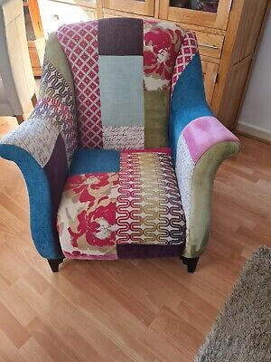 £280 • Buy DFS Shout Patchwork Wing Back Armchair