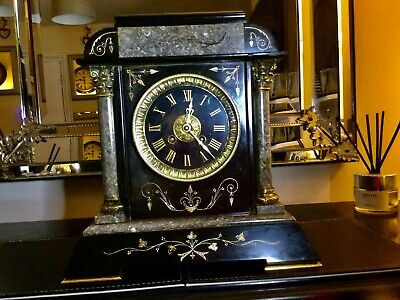 £62 • Buy Antique Slate Marble 19th Century, Mantle Clock,