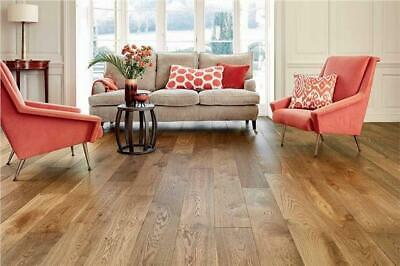 £0.99 • Buy Engineered Oak Wood Flooring - Tawny Brown Lacquered T&G - 20x6x190mm *SAMPLE*