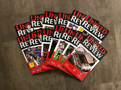 £1.99 • Buy Manchester United 13 HOME Programmes 2001-2002 In Fair Condition
