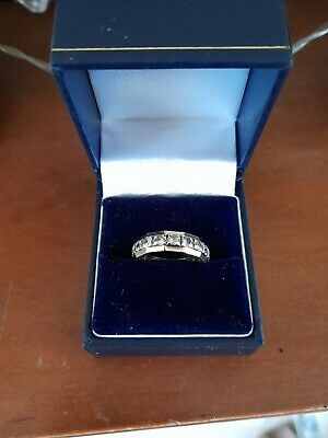 £120 • Buy 9ct White/Yellow Gold Full Eternity Ring With Spinel Stones, Size N