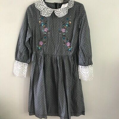 £20 • Buy Topshop Blue With White Collar Dress Size 10