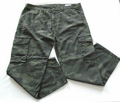 $3.38 • Buy Denim Co Cargo Men's Military Combat Trousers Camouflage Army Green W40/L30