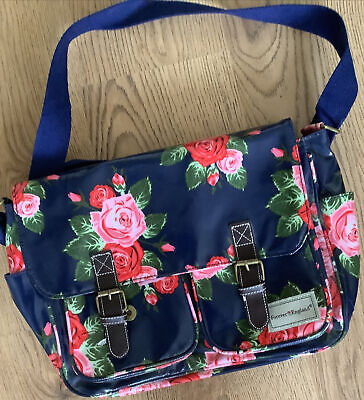 £5 • Buy Forever England Blue Laminated Canvas Satchell