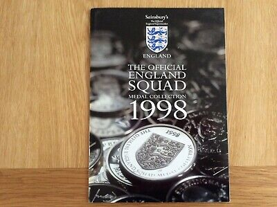 £7 • Buy Sainsbury's 1998 World Cup Official England Squad Medal Collection - Full Set.