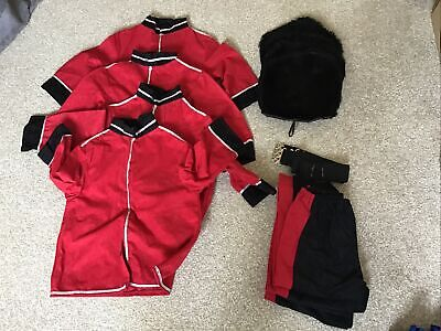 £39.99 • Buy Children's Royal  Guard Outfit 116cm Joblot Including Belt And Hat X 4