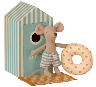 £22.50 • Buy Maileg Mice Little Brother Beach Mouse In Cabin De Plage - 2021 - BRAND NEW